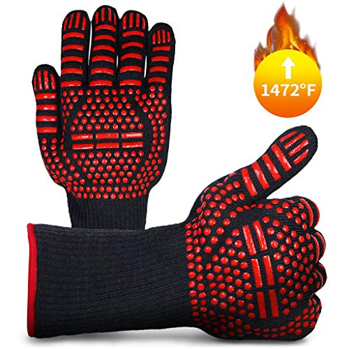 Save %78 Now! youeneom BBQ Grill Gloves 1472℉ Extreme Heat Resistant Barbecue Grill Gloves Kitchen...
