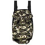GEEPET Legs Out Front-Facing Dog Carrier Hands-Free Adjustable Pet Backpack Carrier for Walking Hiking Bike and Motorcycle (Large)