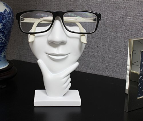 JewelryNanny Artsy Face Eyeglass Holder Stand - Sculpted Nose for Eyeglasses or Sunglasses, Thinker, - http://coolthings.us