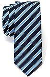 Corbata flaca tejida a rayas de dos colores - Varios colores