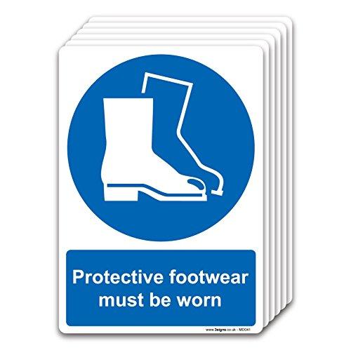 stika.co Pretective Chaussures Doit être porté, Vinyle autoadhésif, A4 210 x 297mm (6 Pack)