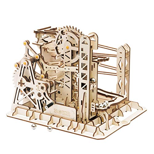 Rowood 3D Wooden Marble Run Puzzle Craft Toy,...
