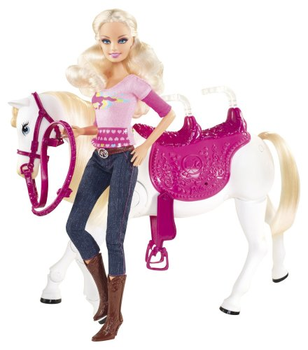 Mattel Barbie and Tawny Walking Together Doll and Horse Set