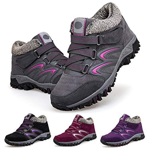 Camfosy Chaussures de Randonnée Hiver Femme, Bottes de...