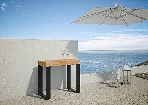 Group Console Design Extensible orchidée d'extérieur Color Sapin allunghe Blanc Mat Extensible à 3 mètres co98orcab-bo