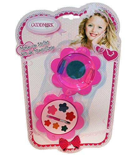 Goodmark Make-upcassette als bloem met spiegel, 2-pack (2 x 11 stuks)