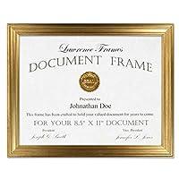 Lawrence Frames 8.5x11 Sutter Burnished Gold Picture Frame [並行輸入品]