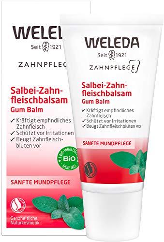 WELEDA Zahnfleischbalsam, Naturkosmetik Pflegegel für empfindliches Zahnfleisch, Zahnpasta zur regelmäßigen Mundhygiene mit natürlichen Ölen für einen frischen Atem (1 x 30 ml)