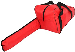 Bolsa de motosierra de 36.2 pulgadas, bolsa de transporte de motosierra resistente al desgaste e impermeable Bolsa portátil de tela Oxford resistente al agua resistente para leñador(rojo)