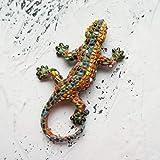 Imán de refrigerador 3D Español República Dominicana Turismo Mosaico conmemorativo Lagarto Gecko Imanes De Frigorífico Iman De Frigorífico para Decoración del Hogar (Color : B)