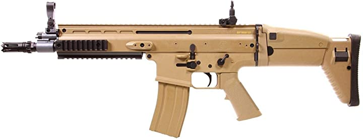 Fucile softair fn scar l tan cybergun abs/color deserto/elettrico (0,5 joule) -semi/full automatic B07PGL4KCT