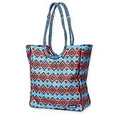KAVU Market Bag Large Tote Bag - Horizon Blanket