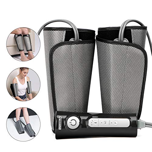 Cheapest Price! Hangsun Leg Massager for Circulation Air Compression Foot Calf Arm Wrap Massage Muscle Pain Relief MC70 with Rechargeable Handheld Controller 2 Modes 3 Intensities
