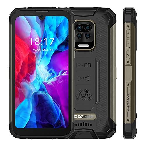 DOOGEE S59 Rugged Smartphone (2021), 10050 mAh Batteria, 4 GB + 64 GB, Telefono Cellulare Robusto IP69K lP68, Altoparlante Potente 2W, Fotocamera Quattro 16MP, 4G Dual SIM, NFC GPS, Nero