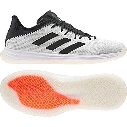 adidas Herren Adizero FastCourt M Sneaker, Ftwbla/Negbás/Rojsol, 43 1/3 EU
