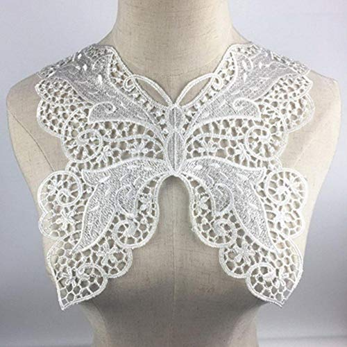 DACCU Lace Fabric trim sew on jurk kleding applicatie motief blouse naaien borduurwerk DIY hals kraag kostuum decoratie 26