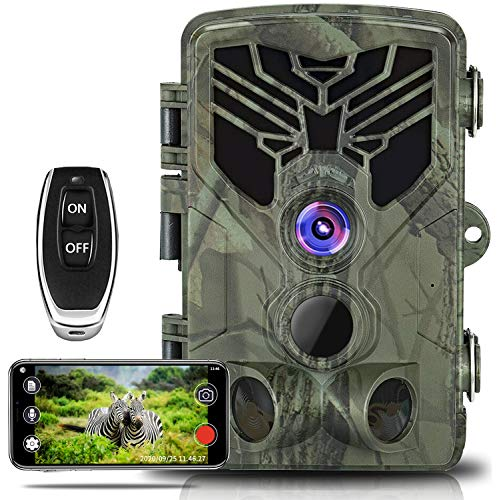 WiFi Trail Camera, Taotique 20MP 1080P WiFi Wildlife Camera Night Vision Motion...