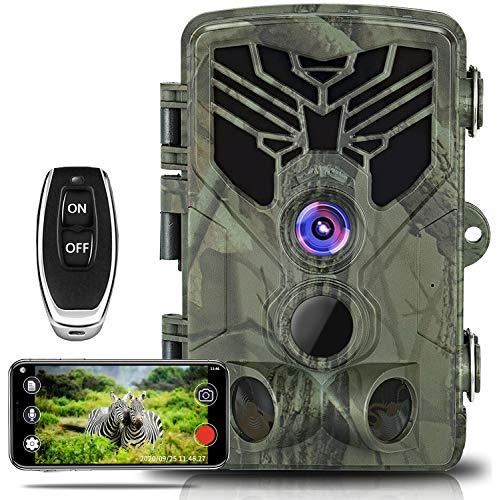 WiFi Trail Camera, Taotique 20MP 1080P WiFi Wildlife Camera Night Vision Motion...