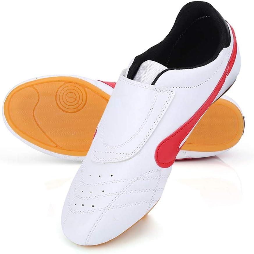Zapatos de Taekwondo Unisex Zapatillas de Artes Marciales Kung Fu Karate Boxeo Zapatillas de Deporte Gym Training Zapatos Ligeros y Transpirables para niños Adolescentes Adultos Calientes