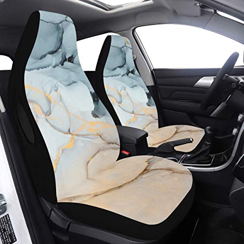 Best Price Kids Car Seat Protector Abstract Ink Painting Art Outdoor Car Cover 2 Pcs Universal Fit A...