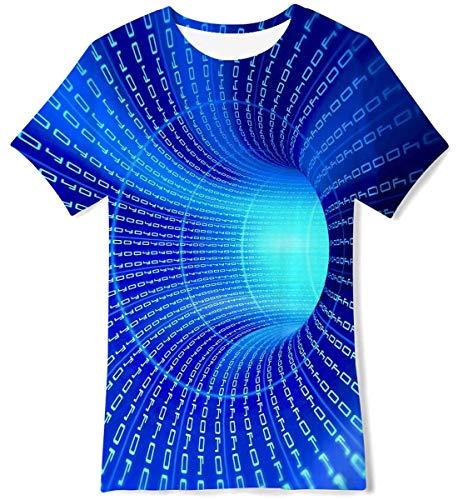 UNIFACO Boy Girl Lustig Shirt Graphic Drucken 3D T Tops Whirlpool Sport Tshirts Party Geburtstag Kurzarm L 160