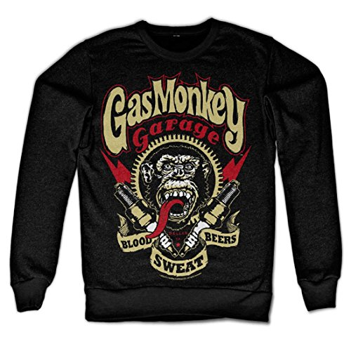 Officially Licensed Merchandise Gas Monkey Garage - Spark Plugs Sweatshirt (Black), Medium