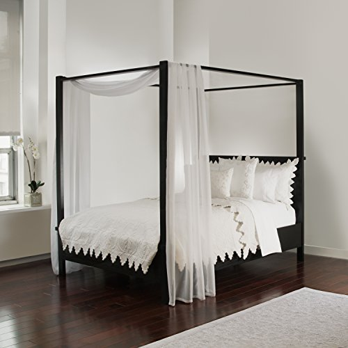 Royale Linens, White Sheer, Bed Canopy Scarf