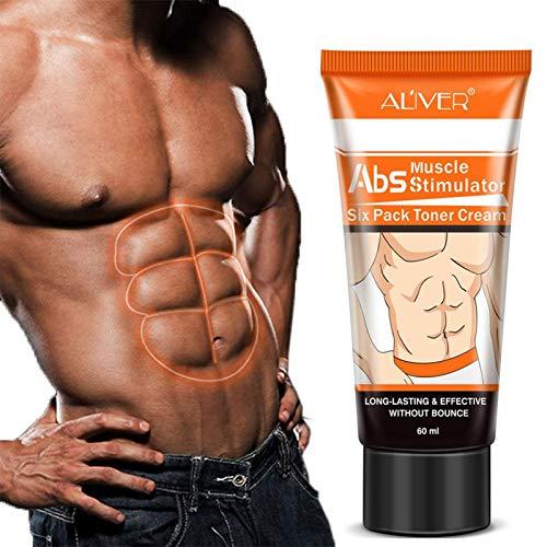 Crème de muscle abdominal de Bulary Men raffermissant le corps renforçant le muscle de ventre serrant la crème de muscle abdominal anti-cellulite amincissant la crème brûlante de graisse
