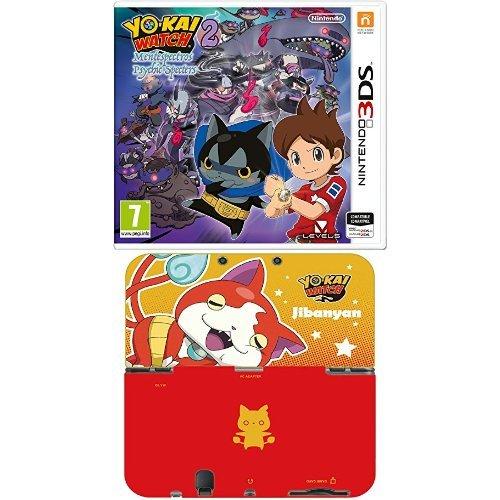 Yo-Kai Watch 2: Mentespectros +  Hori - Carcasa Duraflexi Yo-Kai Watch, Jibanyan XL (New Nintendo...