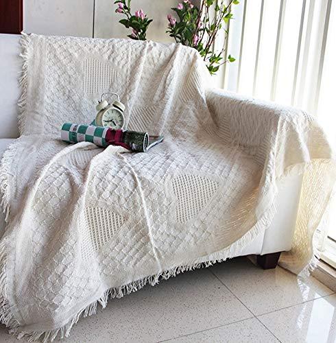 かえるの家 北欧風 綿100% ソファーカバー ベージュ  (ハート柄, 230*250cm)