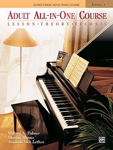 Adult All-In-One Course, Level 1: Lesson-Theory-Technic: Lesson * Theory * Technic, Comb Bound Book (Alfred's Basic Adult Piano Course)