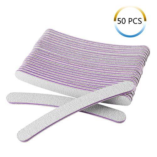 Forever Speed 50 lime per unghie professionali 100/180, lima per manicure a doppio lato, colore viola/bianco