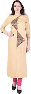 VIHAAN IMPEX Indian Tunic Long Rayon A-Line Women Dress Partywear Kurtis For Women