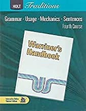 Holt Traditions Warriner's Handbook: Chapter Tests With Answer Key Grade 10 Fourth Course