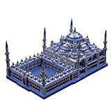 3D Metal Puzzel Famous Architecture Model Building Kit Laser Cut Jigsaw Brain Teaser - Microworld J029 Turkey Blue Mosque (Sultan Ahmed Mosque)