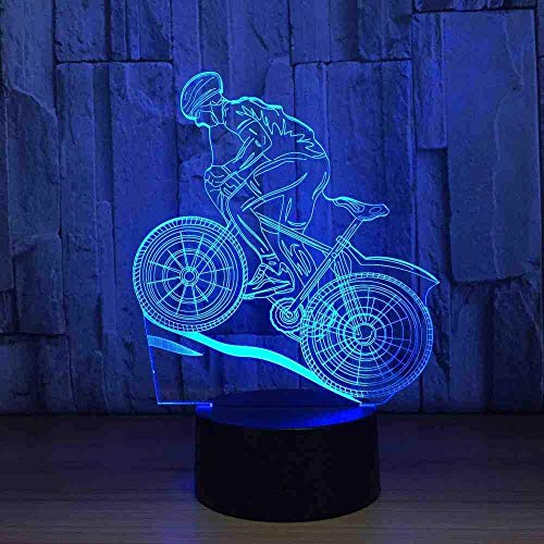 Fiets 3D licht nacht lamp slaapkamer nachtlamp USB LED nachtlicht motion sensor licht voor onder keukenkast kamer lamp