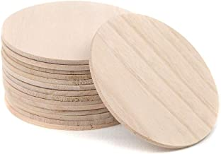 Pack of 10 Natural Wooden Round Ball by Woodpeckers Crafts For Crafts and Building -2? Diameter