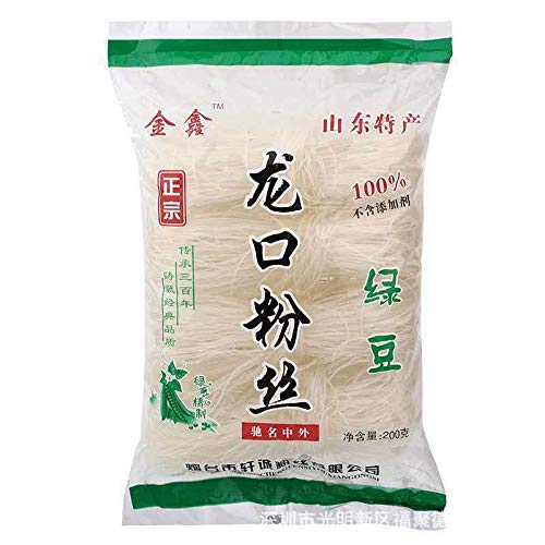 3 pack Longkou Pure Mung Bean Vermicelli (?????, Vermicelli Rice Noodles, Threads Noodle -Vermicelli, 600g