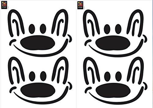 Décoration adhésive 157163 Chiens Souriant, Polyvinyle, Noir, 21 x 0,1 x 29,6 cm