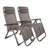 FTFTO Office Life 2 Piezas Zero Gravity Garden Sun Tumbona Cama Home Lounge Chair Reclinable Reclinable Outdoor Plegable Garden Beach Sillas de Camping