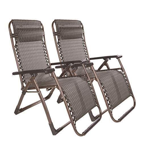 GJJSZ 2 uds,Tumbona de jardín de Gravedad Cero,Cama,sillón reclinable,reclinable,Plegable,Exterior,jardín,Playa,sillas de Camping