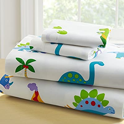 Wildkin Kids 100% Cotton Twin Sheet Set for Boys and Girls, Cotton Bedding Set Includes Top Sheet, Fitted Sheet, and One Standard Pillow Case, Pattern Coordinates with Our Comforters and Pillow Shams