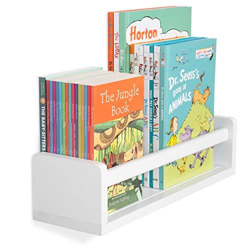 Wallniture Madrid Shelf Nursery Baby Room Wood Floating Wall Shelf White Kid S Room Bookshelf Display Decor 17 Inch Buy Online In Bahamas At Bahamas Desertcart Com Productid 105723331
