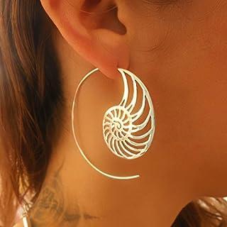 elenco privato per Silvia bassani - orecchini d'argento - orecchini a spirale d'argento - orecchini gitani - orecchini tri...