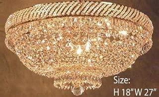 French Empire Crystal Semi Flush Basket Chandelier Chandeliers Lighting H18