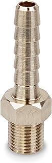 Precisiongeek Ottone Completo di porta 1//8 NPT filettatura maschio raccordo adattatore tubo flessible 6mm