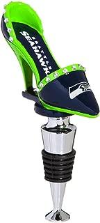 Team Sports America NFL Seattle Seahawks High Heel Shoe Wine Bottle Stopper, Small, Multicolored
