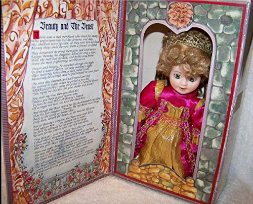 Beauty & The Beast Story Book 7 1/2' Doll by Marie Osmond Porcelain Face Hands
