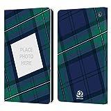 Head Case Designs sous Licence Officielle Scotland Rugby Coutume Personnalisé Tissu Écossai Graphique Personnalisée Coque en Cuir Livre Compatible avec Amazon Fire HD 8/Amazon Fire HD 8 Plus 2020