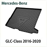 QCHD Alfombrilla de Arranque,para Mercedes-Benz A C B E S G ML GLA GLB GLC GLS GLE GLK del Maletero Trasero Bandeja de Carga Almohadilla de Piso Material de Goma TPO Negro,Clase GLC 2016-2020